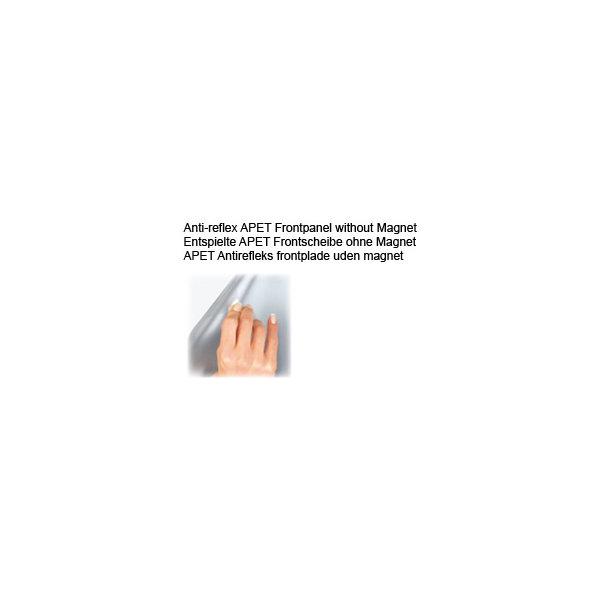 Antirefleks frontplade A2 u/magnet