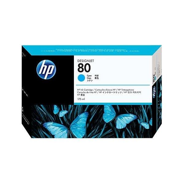 HP nr.80/C4872A blækpatron, blå, 175 ml