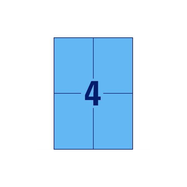 Avery 3457 farvede etiketter, 105 x 148mm, blå