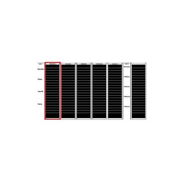 Plan-dex kortmodul A4 tværformat 40mm, 25 stk