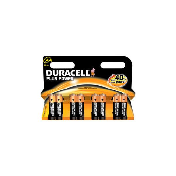 Duracell Plus Power AA-batterier, 8 stk.