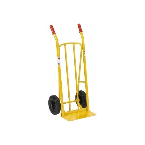 Sækkevogn m/ bæreplade, massive hjul, 250 kg