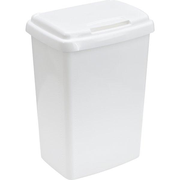 Affaldsspand i plast 50 l. hvid