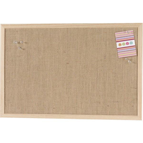 Tidssvarende Pinboard opslagstavle, 60 x 100 cm, hessian - Køb her - Lomax A/S AA-62