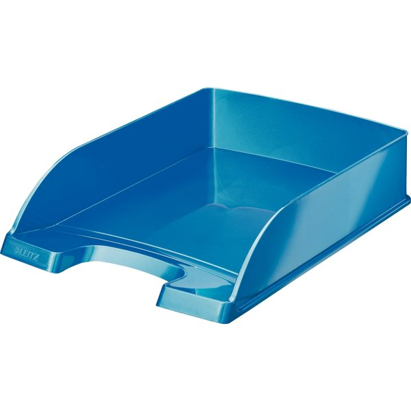 Leitz WOW brevbakke, blå metallic
