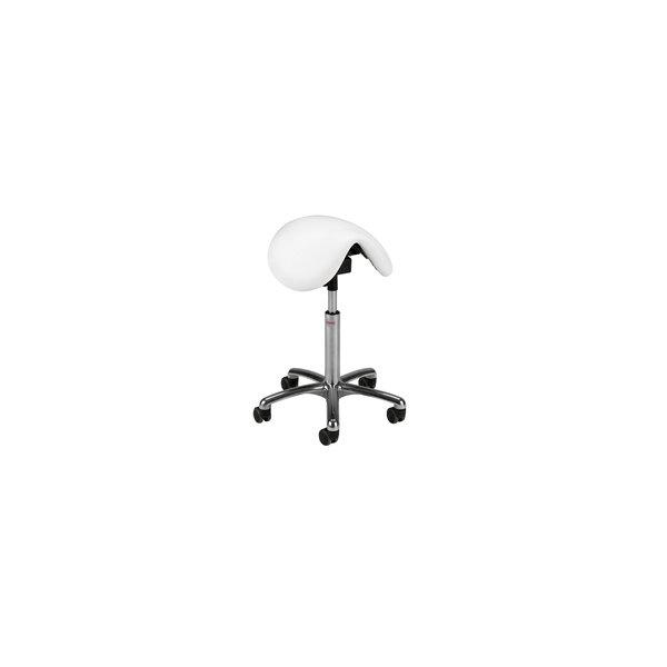 CL Dalton sadelstol, hvid, kunstlæder, 58-77 cm
