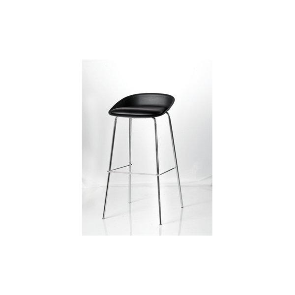Detroit høj mødestol krom/sort