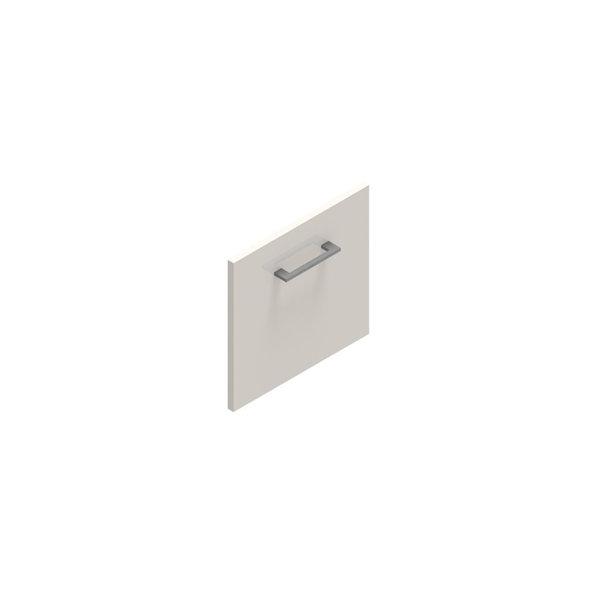 Jive+ låge t/1 rum i højden u/lås hvid decor lam.