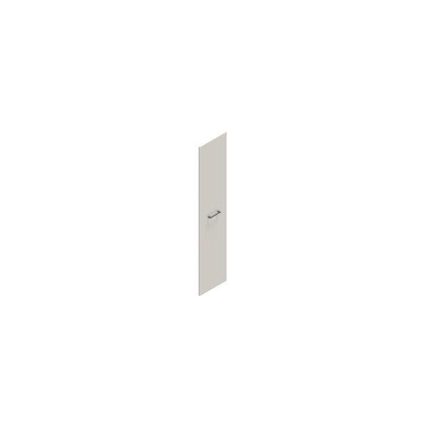 Jive+ låge t/5 rum i højden m/lås hvid decor lam.