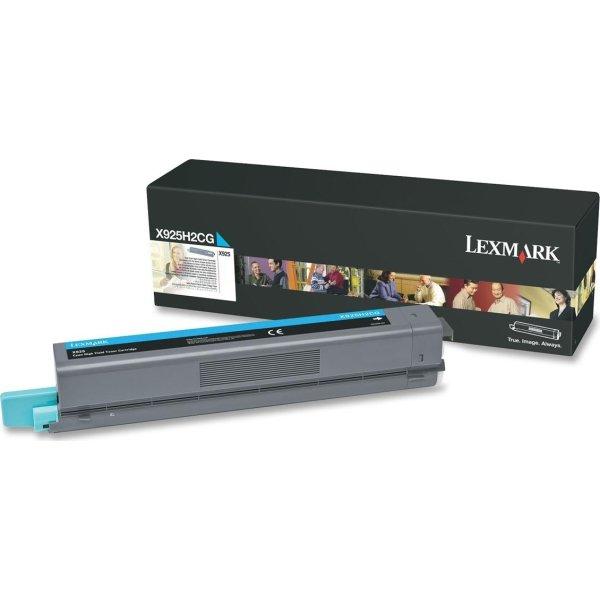 Lexmark X925H2CG lasertoner, cyan, 7500s.