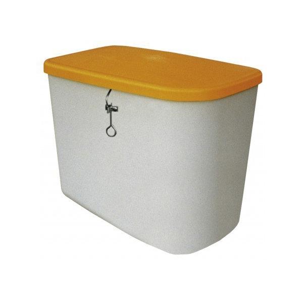 Salt-/sandbeholder 130 liter, Grå/orange