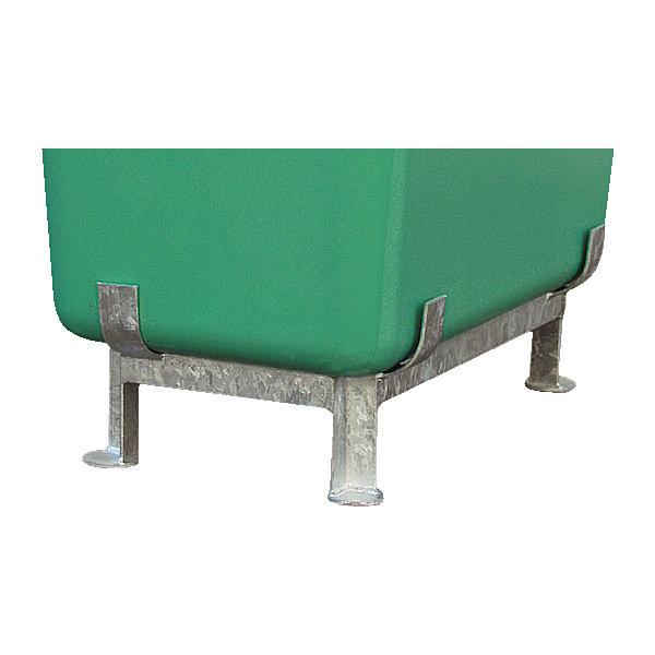 Fod til salt-/sandbeholder 100 liter, Galvaniseret