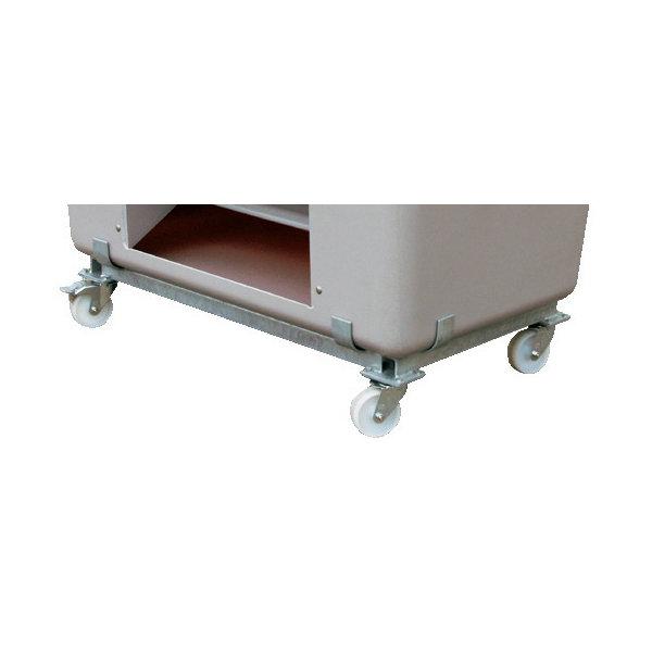 Hjulsæt til salt-/sandbeholder 1100 liter,Galvanis