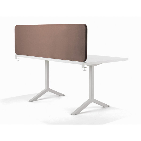 Softline bordskærmvæg beige B1600xH590 mm