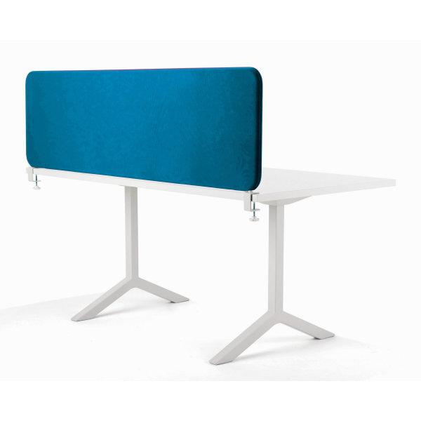 Softline bordskærmvæg blå B1400xH450 mm