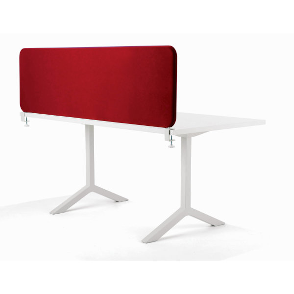 Softline bordskærmvæg rød B1400xH590 mm