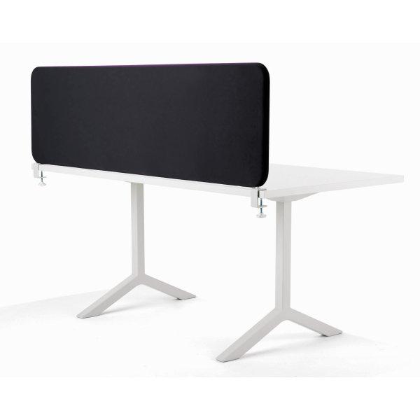 Softline bordskærmvæg sort B1600xH590 mm