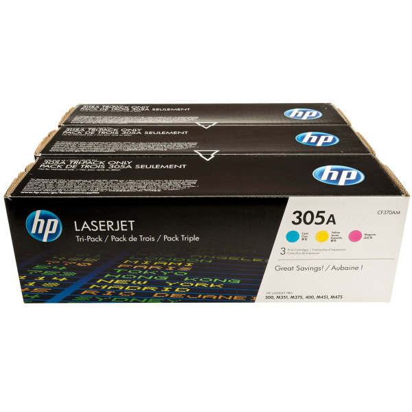 HP nr.305A/CF370AM lasertoner, 2600s, Tri-pack