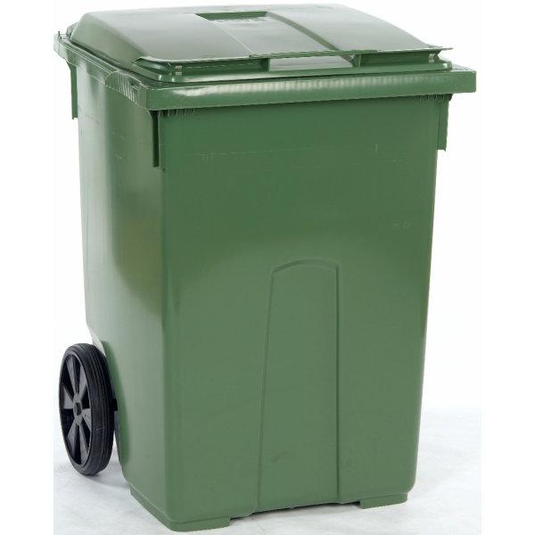 Affaldsvogn 370 l, Grøn