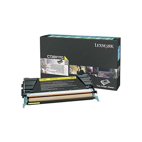 Lexmark C736H1YG lasertoner, gul, 10000s