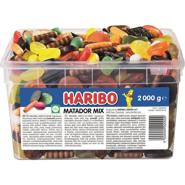 Splinternye Haribo Matador Mix, 2000 gram - Køb til en god pris her - Lomax A/S VR-78