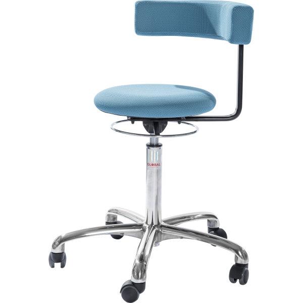 CL Saturn stol, blå, stof, 49-69 cm