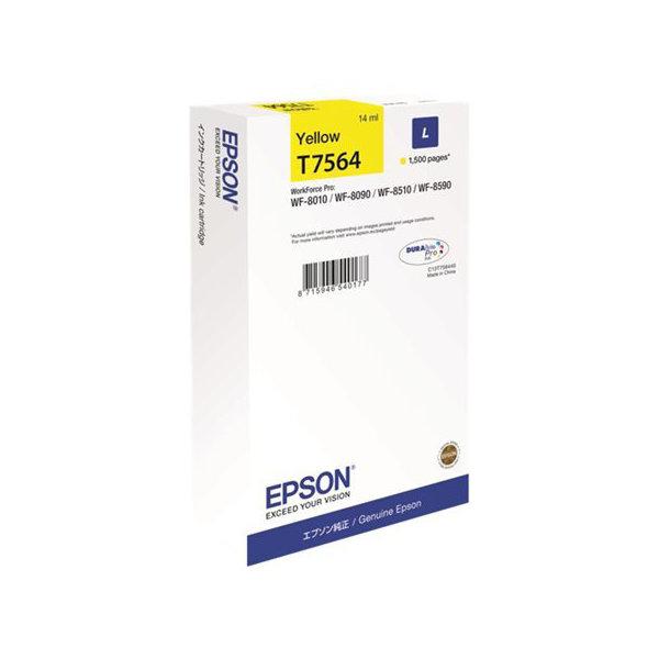 Epson C13T756440 large blækpatron, gul, 1500 s.