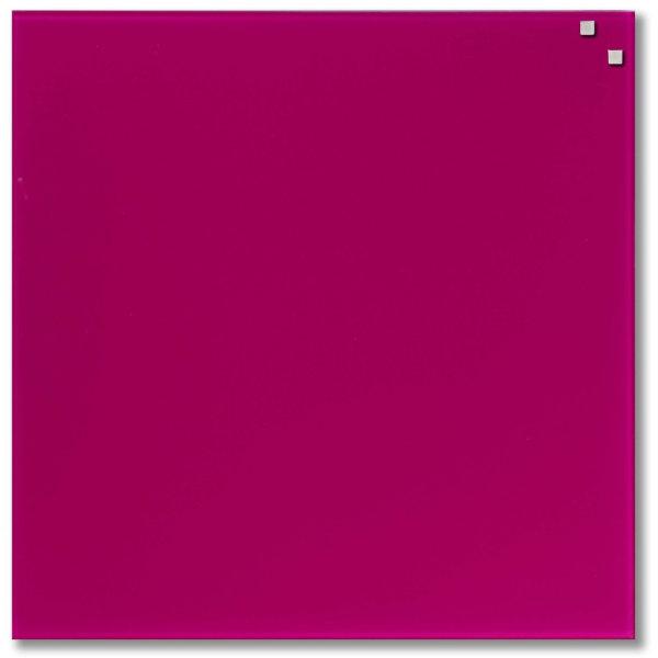 Glassboard magnetisk glastavle 45 x 45 cm, pink