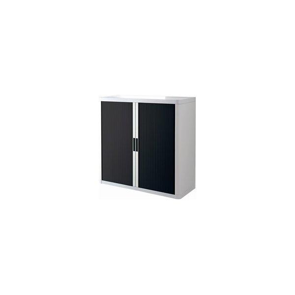 Paperflow Easy Office 1 m, 2 hylder, Hvid/sort