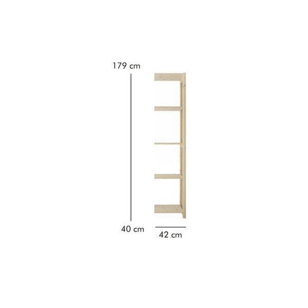 ABC Tilbygningsreol, HxBxD: 179x42x40 cm, natur
