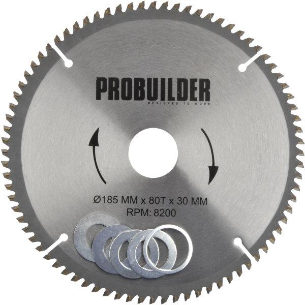 Probuilder klinge, 185x30x2 mm, t80