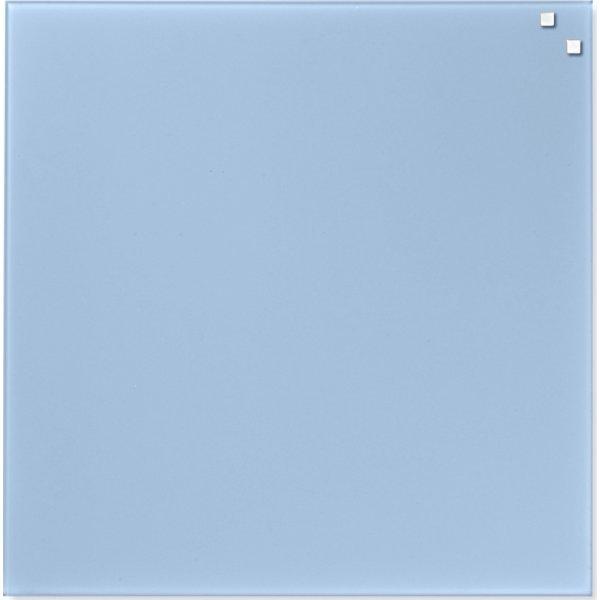 Glassboard magnetisk glastavle 45x45 cm, lyseblå