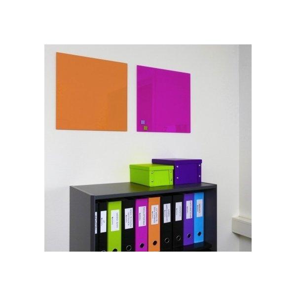 Glassboard magnetisk glastavle 45x45 cm, turkis