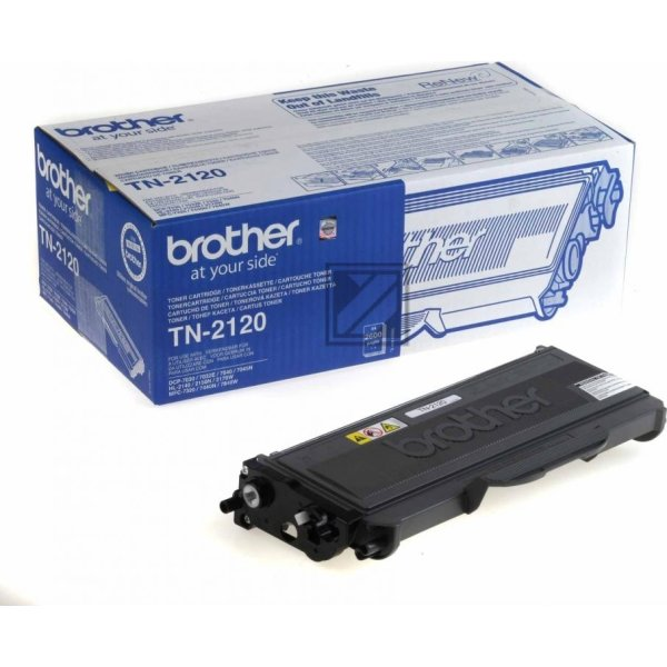 Brother TN2120 lasertoner, sort, 2600s