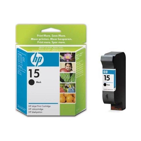 HP nr.15/C6615DE blækpatron, sort, 500s