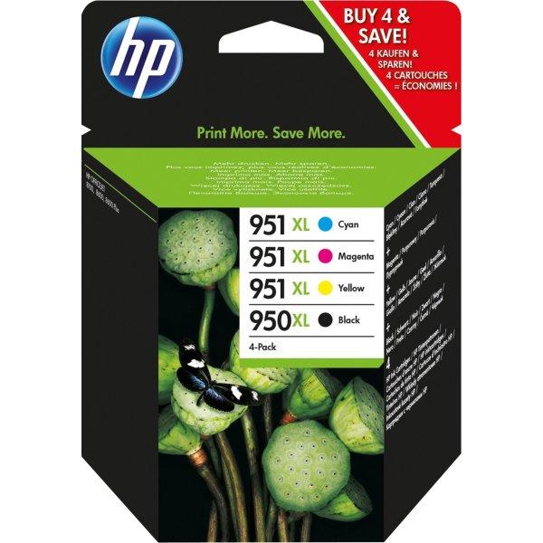HP nr.950XL/951XL blækpatroner, sampak