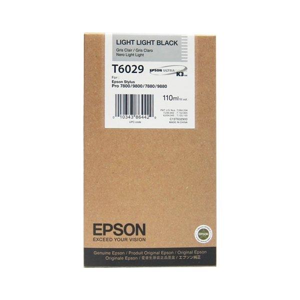 Epson C13T602900 blækpatron, meget lys sort, 110ml