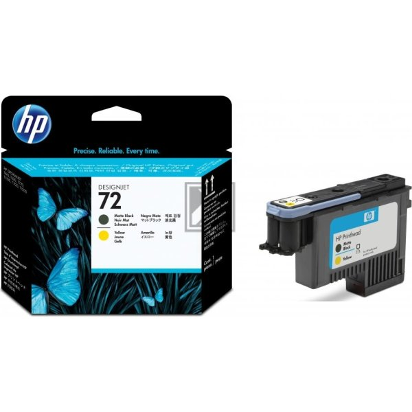 HP nr.72/C9384A printhoved, sort og gul