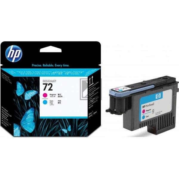 HP nr.72/C9383A printhoved, rød og blå