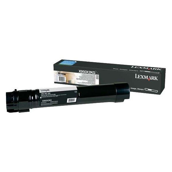 Lexmark X950X2KG lasertoner, sort, 38000s