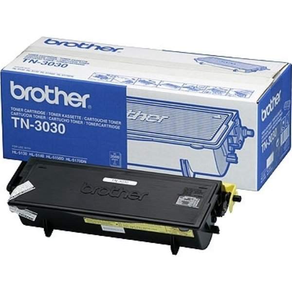 Brother TN3030 lasertoner, sort, 3500s
