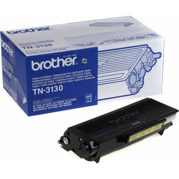 Brother TN3130 lasertoner, sort, 3500s