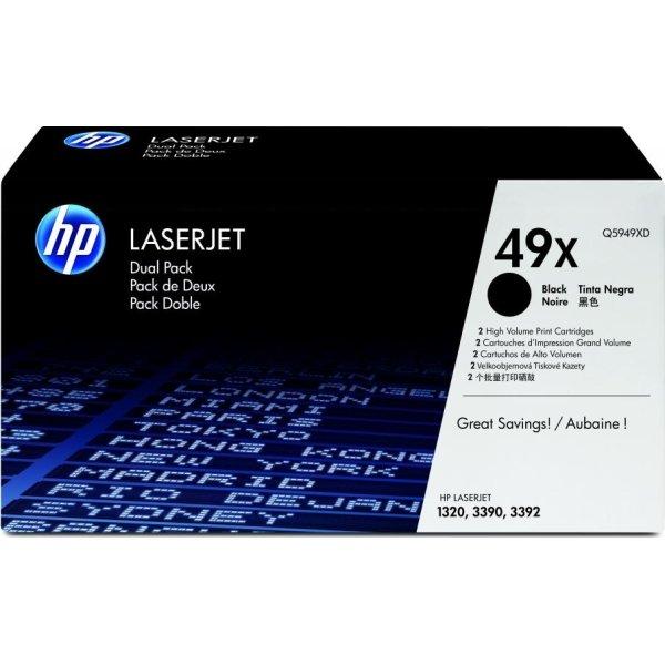 HP nr.49X/Q5949XD lasertoner, sort, 6000s, 2pk