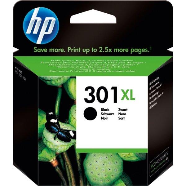 HP nr.301XL/CH563EE blækpatron, sort, 480s