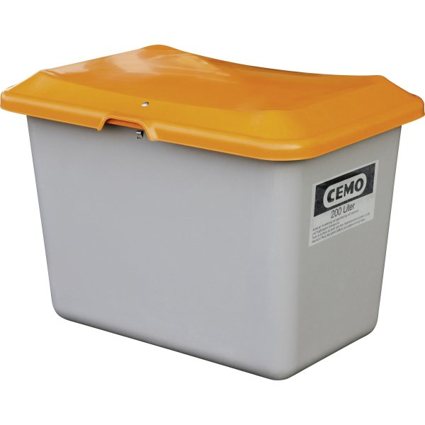 Salt-/sandbeholder 200 L, Grå/orange