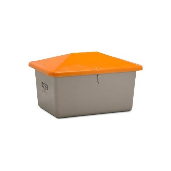 Salt-/sandbeholder, Tough, 700 L,Grå/orange
