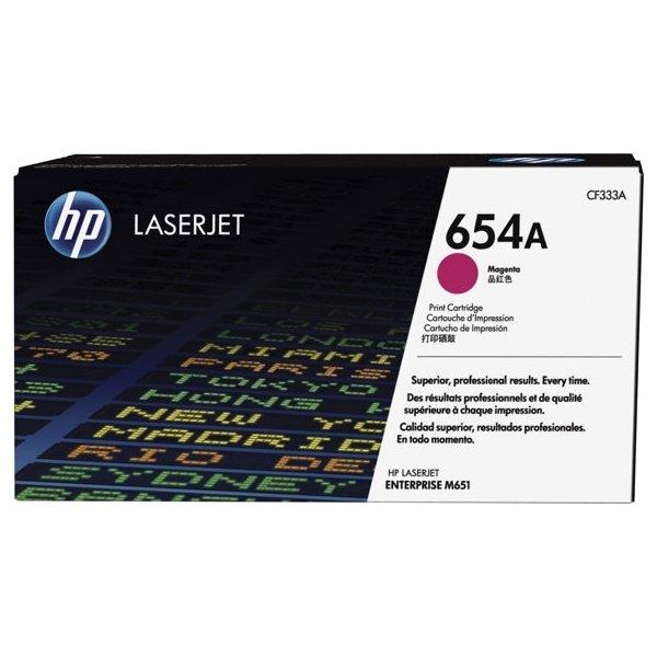 HP 654A/CF333A lasertoner, magenta, 15000s.