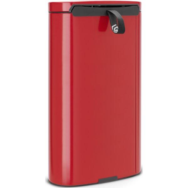 Brabantia Flatback Pedalspand 30 liter, rød