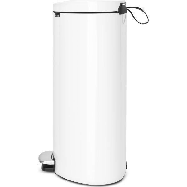 Brabantia Flatback Pedalspand 40 liter, hvid