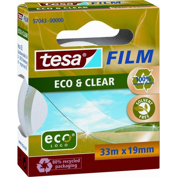 tesa ecoLogo miljøvenlig kontortape 33m x 19mm